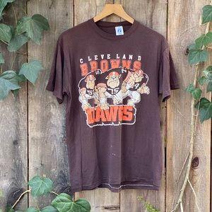 NFL Cleveland Browns 90s Vintage Men's Tee Shirt